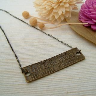 Barcode Necklace Copper - One Size