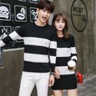 Couple Matching Striped Sweater / Knit Tunic