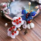 Butterfly Floral Hair Clip