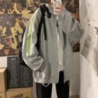 Color Panel Zip-up Jacket