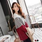 Colored-block Pullover