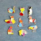 Color Panel Animal Brooch