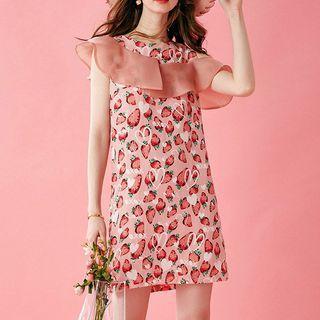 Strawberry Print Mini Tank Dress