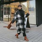 Midi Check Coat One Size