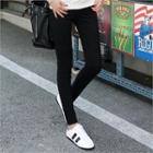 Contrast Zip-trim Skinny Pants