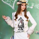 Wool-blend Faux Fur-cuff Double-buttoned Jacket
