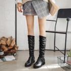 Hidden-wedge Tall Boots