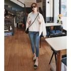 Cutout-hem Skinny Jeans
