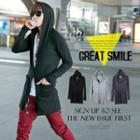 Cotton Hooded Long Jacket