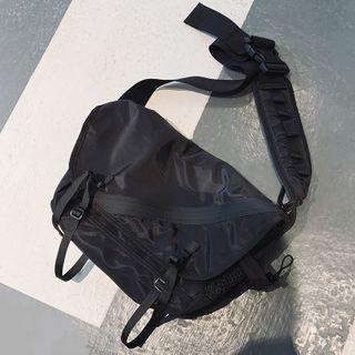 Plain Flap Messenger Bag H001 - Black - One Size