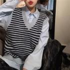 Striped Knit Top / Shirt