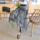 Gingham Long Tulle Skirt