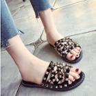 Studded Strappy Slide Sandals