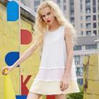 Sleeveless Lace Layered Dress