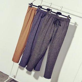 Drawstring Straight Fit Pants