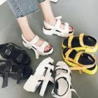 Buckle-strap Platform Sandals