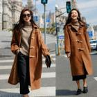 Hooded Toggle Long Coat