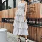 Sleeveless Dotted Layered Dress