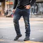 Straight-cut Ripped Harem Jeans