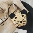 Straw Animal Crossbody Bag Beige - One Size