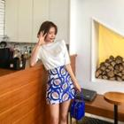 Pattern A-line Miniskirt