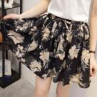 Chiffon Pleated Skort
