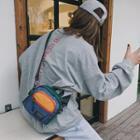 Colored Panel Nylon Crossbody Bag