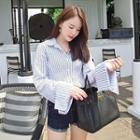 Striped Bell-sleeve Shirt
