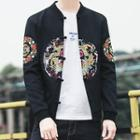 Embroidered Frog-buttoned Jacket
