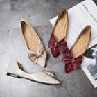 Pointy Bow Accent Flats