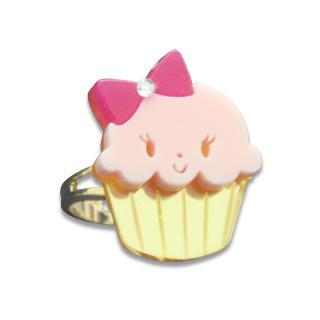 Miss Cupcake Crystal Gold Ring