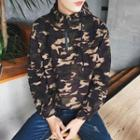 Long-sleeve Camouflage-printed Top