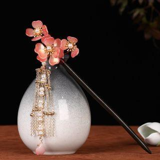 Flower Fringed Hair Stick As Shown In Figure - One Size