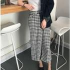 Cropped Checked Pants