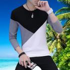 Long-sleeve Multi-color T-shirt