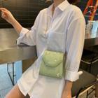 Floral Faux Leather Flap Crossbody Bag