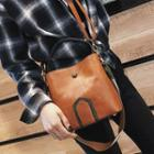 Retro Faux Leather Bucket Bag