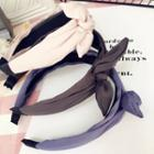 Plain Fabric Bow Headband