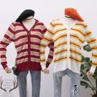 Striped Light Knit Cardigan