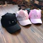 Embroidered Cat-ear Cap
