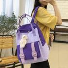 Top Handle Nylon Zip Backpack