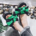 Bow Accent Platform Sandals