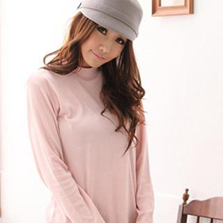 Mock-neck Long Sleeve Top
