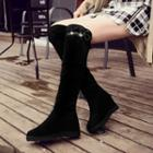 Paneled Tall Boots