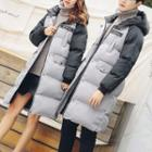 Couple Matching Patch Embroidered Padded Coat