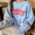 Lettering Sweatshirt / A-line Midi Skirt