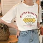 Biscuit Print Short-sleeve T-shirt