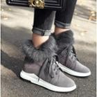 Furry Platform Ankle Snow Boots