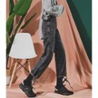 Tie-hem Cargo Boyfriend Jeans