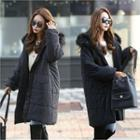 Faux-fur Hooded Puffer Coat Black - One Size